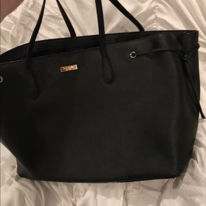 Kate Spade Black Leather Tote purse